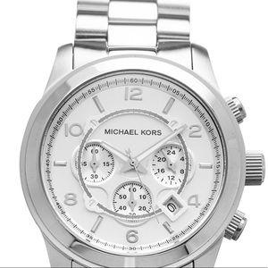 Michael Kors Silver Oversized Runway Watch